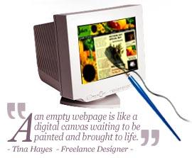 An empty webpage is like a canvas